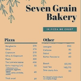 Seven Grain Bakery Take Away Pizza on Sunday June 14 2020